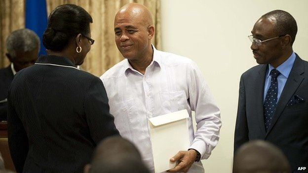 Haiti government swearing in ceremony 19th January 2015