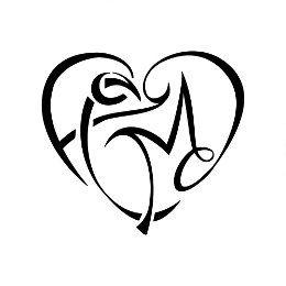 F+C+M+D heart tattoo