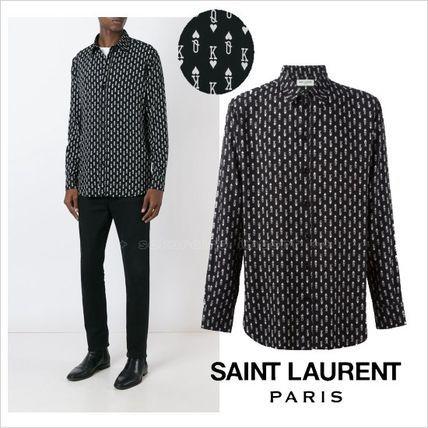 ●人気●Saint Laurent  トランプカードプリントプリントTシャツサンローラン 2017 ファッション