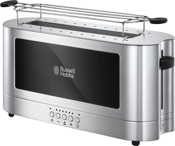Russell Hobbs Langschlitz-Toaster Elegance 23380-56, Glasdesign und Edelstahl, 1420 Watt