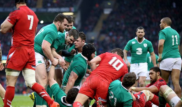 Penalty try was not enough to keep Ireland's Grand Slam hopes alive.  Wales v Ireland 14.03.2015 ©INPHO/Dan Sheridan
