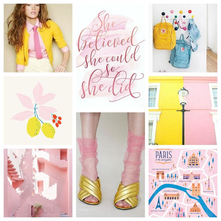 #moodboard #moodboards #inspiration #inspirationboard #inspirationideas #color #colorful #pink #yellow #lightblue #colours #colorinspiration
