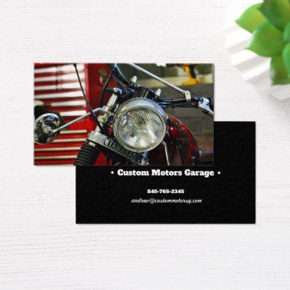 Modern Personalized Business Card Yamaha Motorbike - diy individual customized design unique ideas