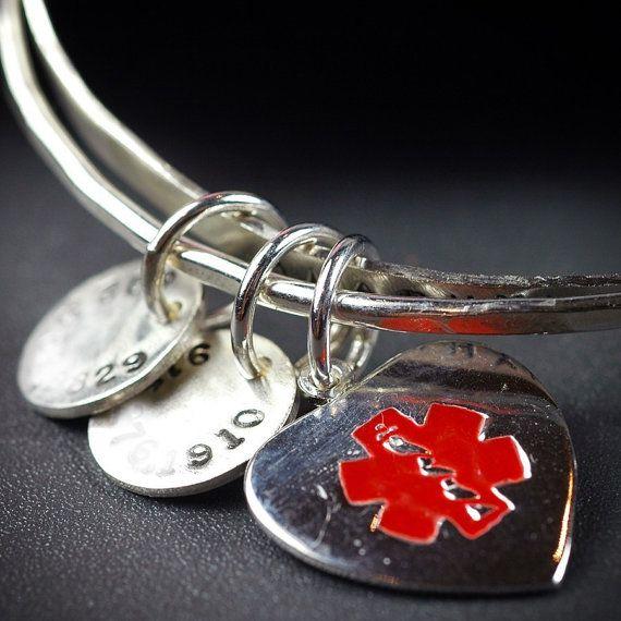 CUSTOM medical alert bracelet for CINDY via Etsy