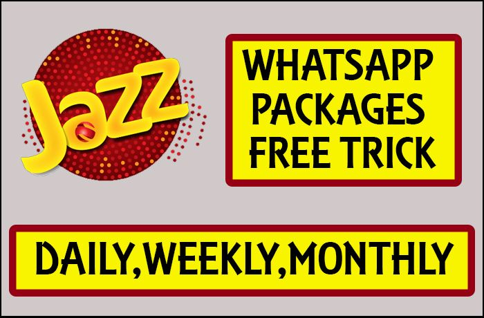 Jazz Whatsapp Packages Free Trick Price Daily Weekly Monthly Packaging Jazz Mobile Operator