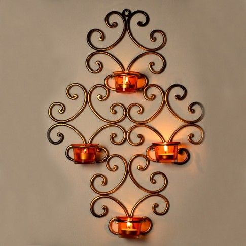 Amazing This Fantastic Wall Décor With #tealights Will Accentuate The Beauty Of  Your Wall. It