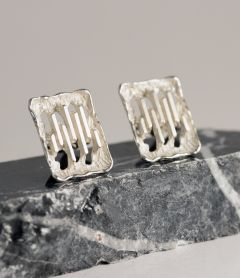 Swedish silver mid-century cufflinks