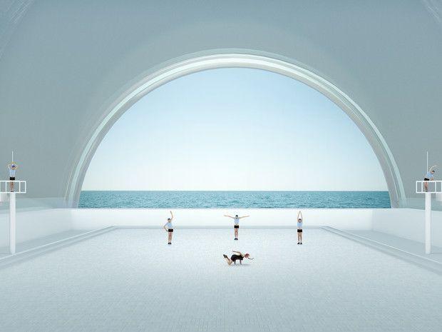 La photo de la semaine : les drôles de piscines de Muriel Bordier - bibamagazine.fr