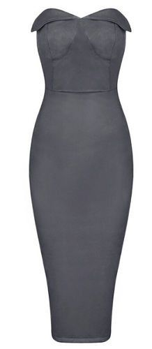 very sexy, elegant, body-con fit, length above knee, side zipper Material- Suedette Color - Gray Size - X-Small, Small, Medium, Large ( email us if size and color is not available) * Dry clean * Impor