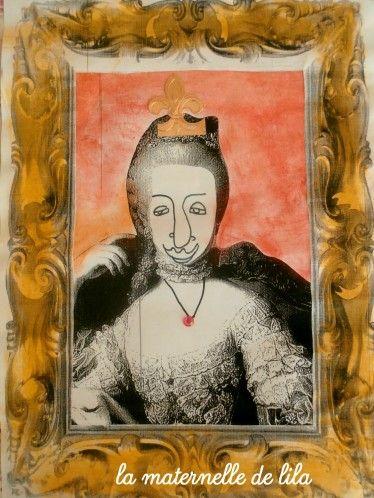 le portrait en GS: des rois et des reines - la maternelle de lila