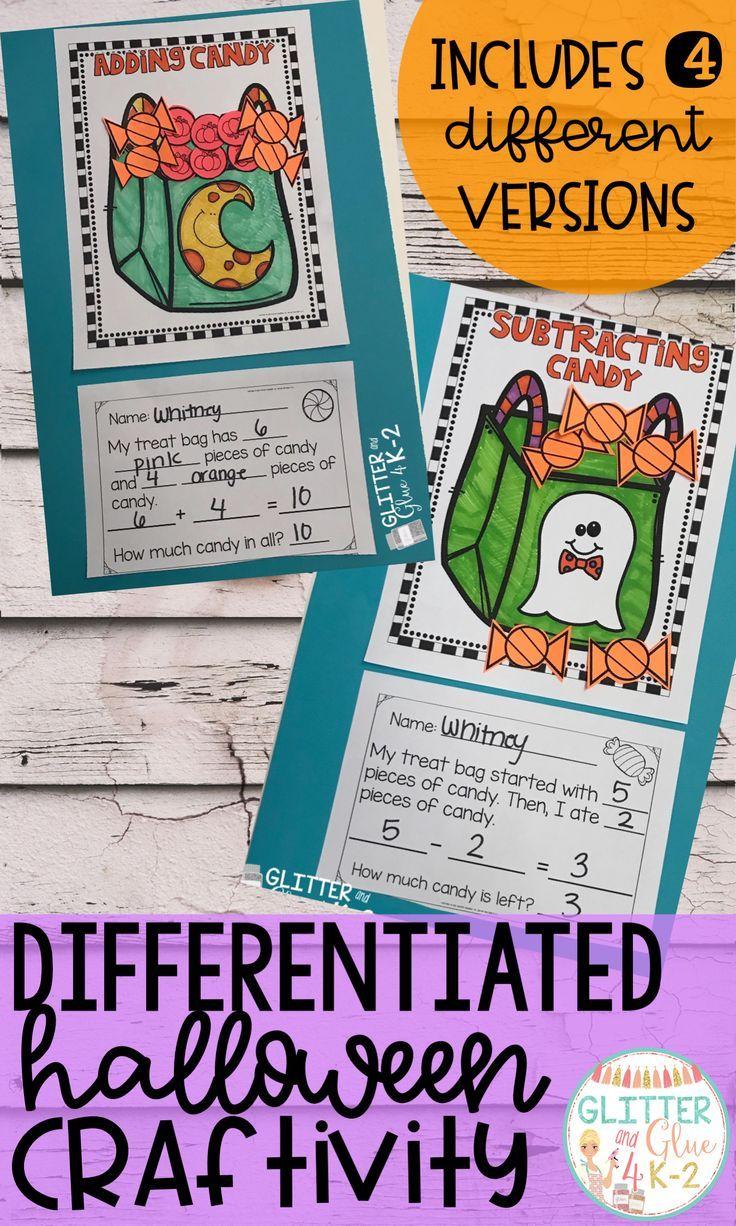 Halloween Math Craft-Differentiated | Homeschool Tips & Tricks ...