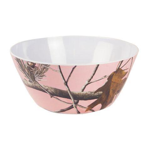 "Realtree Pink Camo 6"" Pink Bowl $2.99  #Realtreecamo"