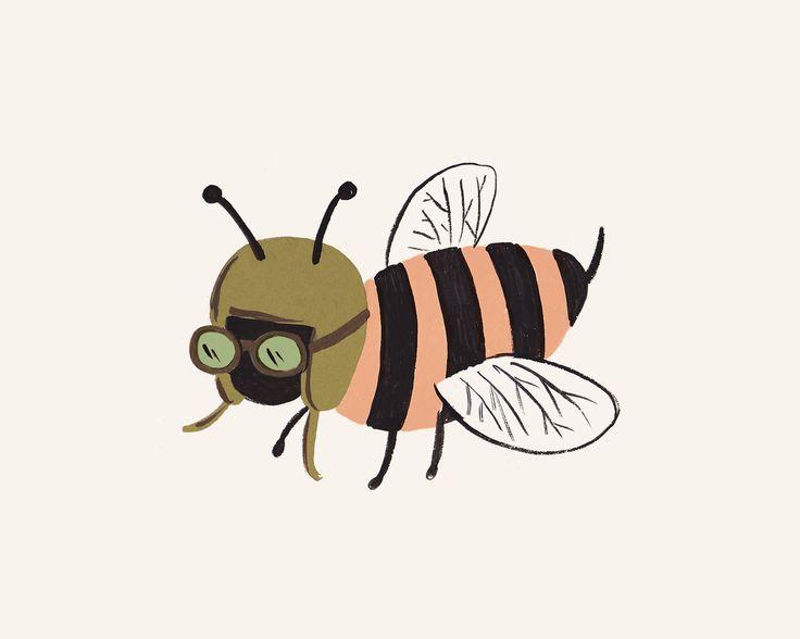 Bug Print- Bee