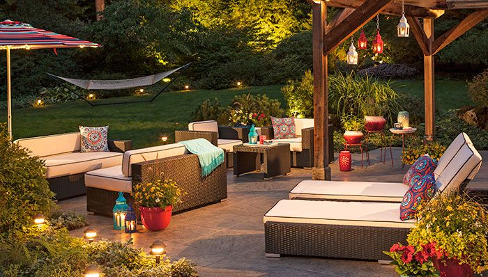 Outdoor Lighting Ideas  - I just want to chill out here for hours