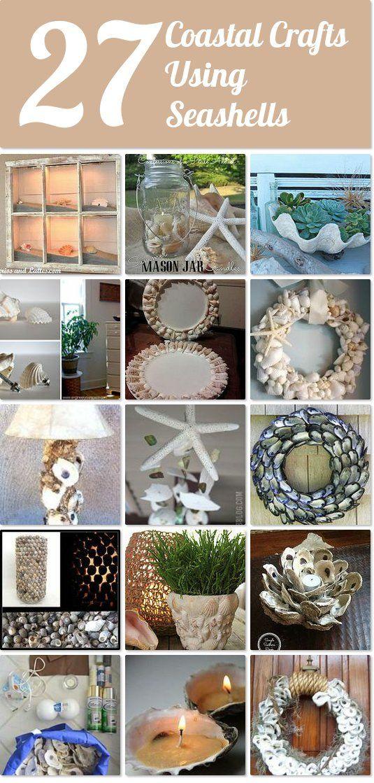 27 coastal crafts using seashells
