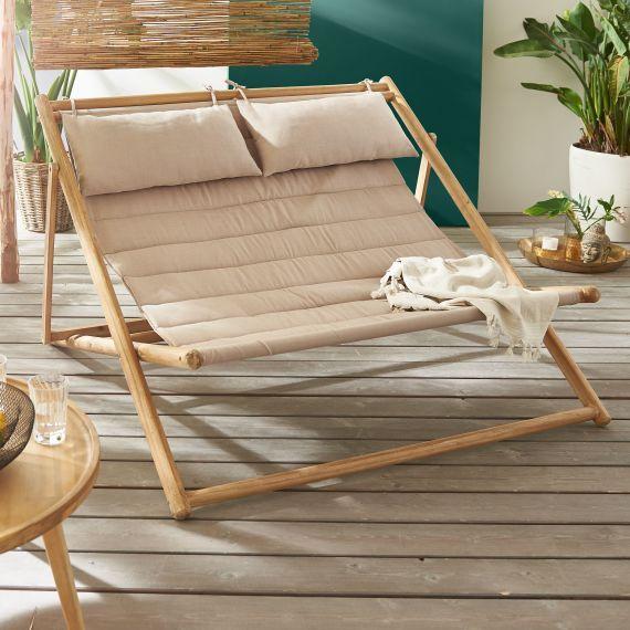 Outdoor Liege Bamboo Bambus Stuhle Liege Garten Balkonliege