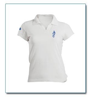 "SeaHorse-Collection, women's polo shirt in heavy piqué ""Drop on sleeve"" design, 49,99€"