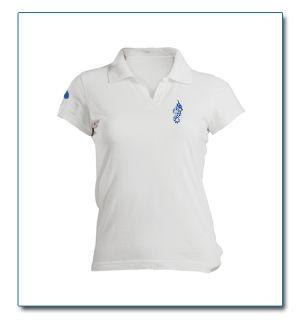 """SeaHorse-Collection, women's polo shirt in heavy piqué """"Drop on sleeve"""" design, 49,99€"""
