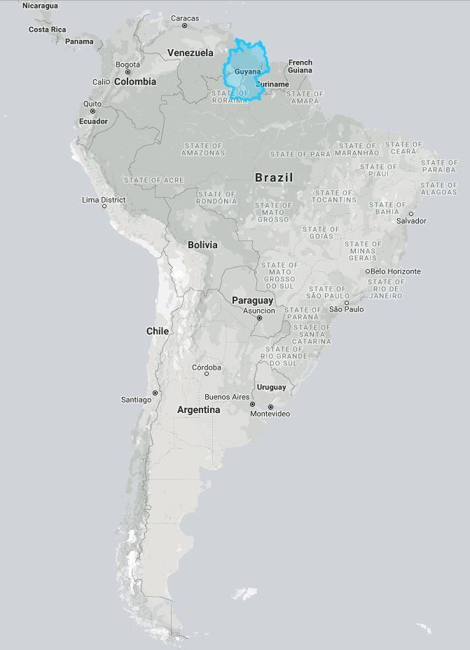 Germany compared to Guyana (and South America) | geo | Pinterest ...