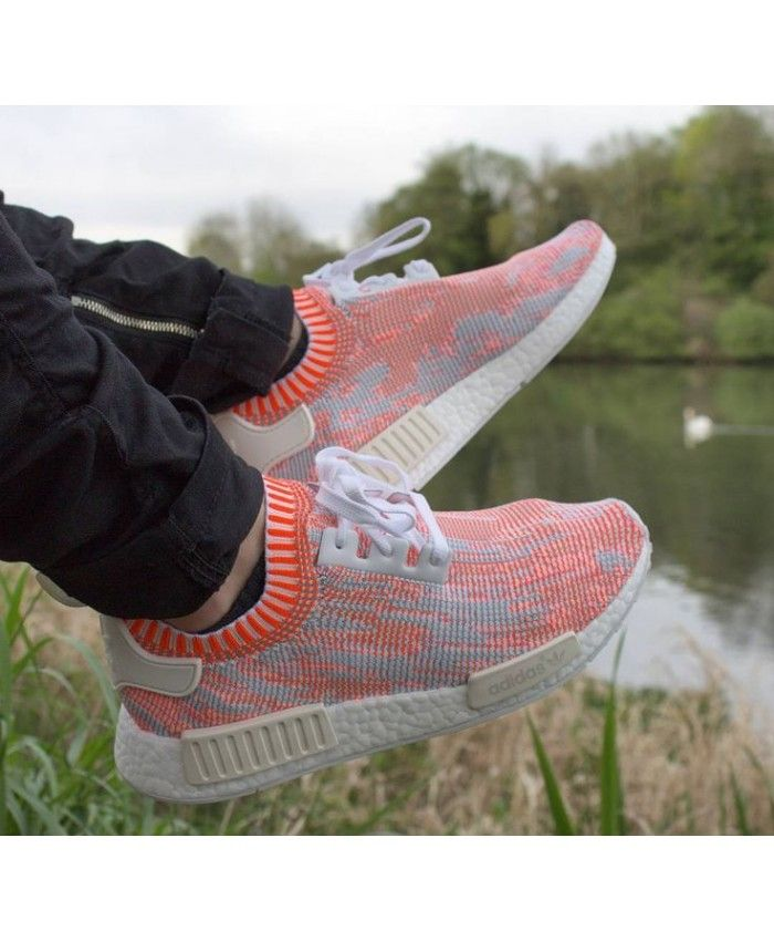 Adidas NMD Runner Primeknit Trainers In Orange Camo