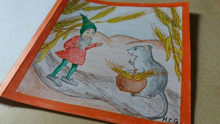 #DIY #Zeichnung #Geburtstagskarte #Maus #Zwerg #Kindheitserinnerungen #selbstgemalen