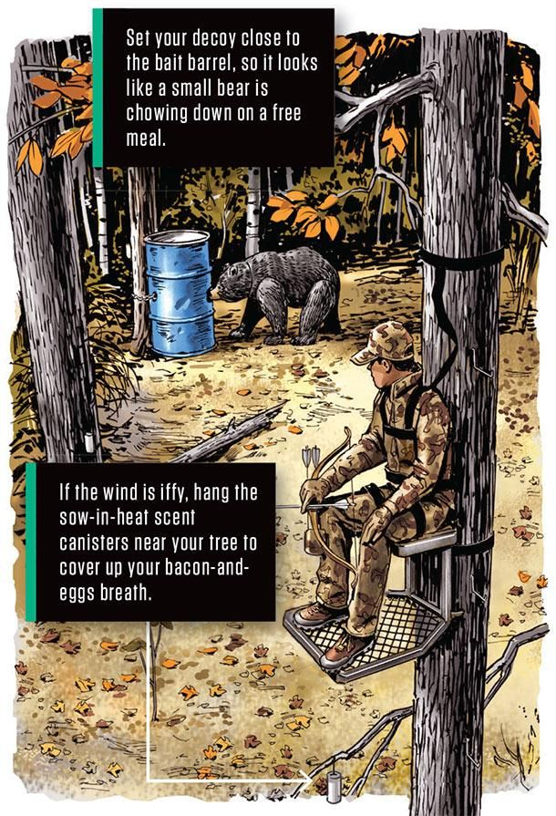 Hunting Bears With Bows – Decoy Tactics  Trophy boars are smarter than your average bear. But even the savviest old bruin has a few chinks in his armor. Using a decoy is an exciting way to exploit them. Even weary old black bears will com...