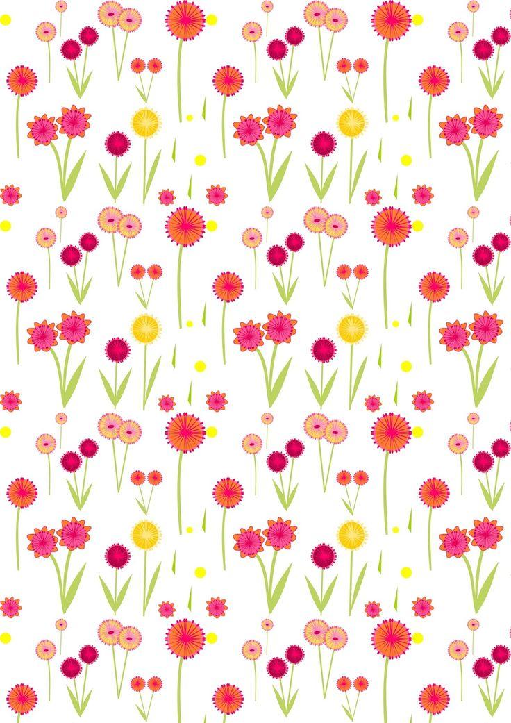 FREE printable flower pattern paper
