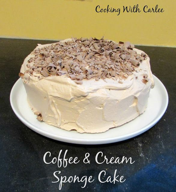 Cooking with Carlee: Coffee and Cream Sponge Cake #TheCakeSliceBakers