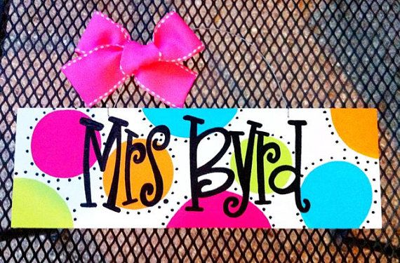4x12 Personalized Hand Painted Wood Name Sign by geauxgirldesigns