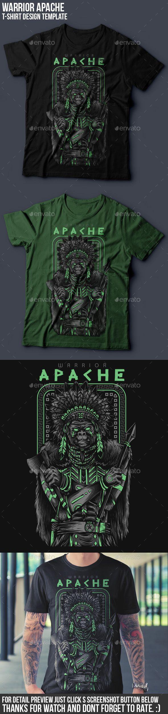 Shirt design generator online - Apache Warrior T Shirt Design