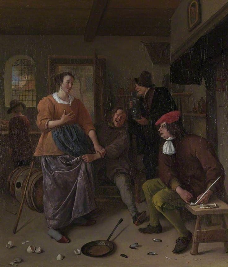 Jan Steen - De handtastelijke gast (De gebroken eieren)