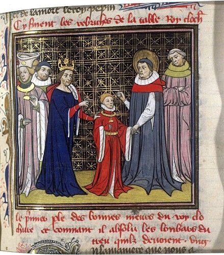 08-Clotaire II, Dagobert I et saint Arnoul