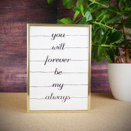 Póster Forever para amores eternos como el vuestro. #sanvalentin  #regalosromanticos #amor #romance #romantic #posters