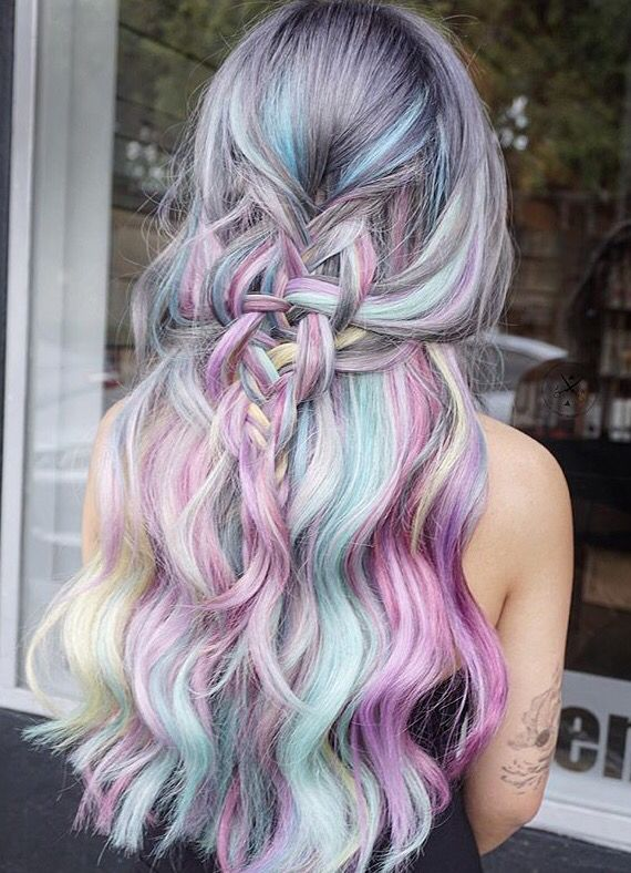 #hair #beauty #hairstyles #colorful