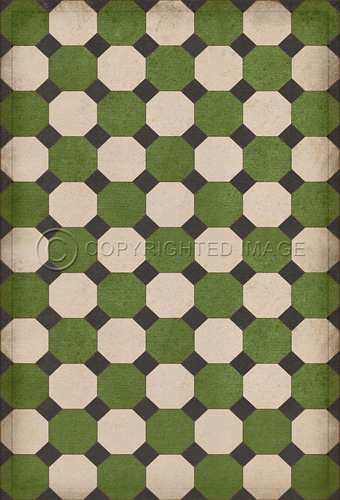 Octagons Wythe Vinyl Floor Cloth In 2020 Vinyl Flooring