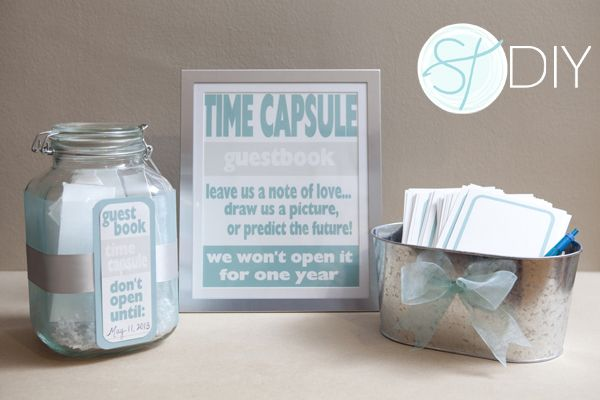 time capsule - leave a note guestbook great idea..<3
