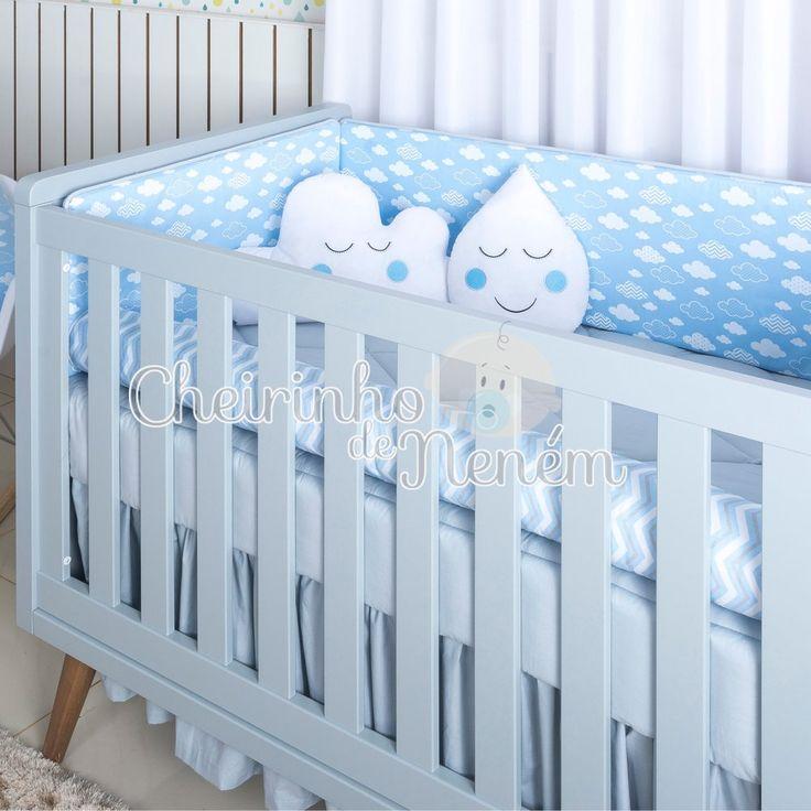 DESCRIÇÃO: O Kit Berço Algodão Doce Azul (Exclusivo da Cheirinho de Neném)deixa o quartinho do seu bebê com muita originalidade e diversão, proporcionando um ambiente super lúdico, moderno e super encantador. Confeccionado em tecido 100% algodão proporciona á criança um toque macio, tornando o sono do bebê mais confortável.  ...