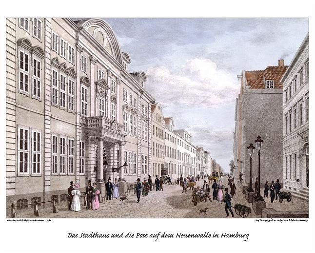 Das Stadthaus am Neuen Wall 1830