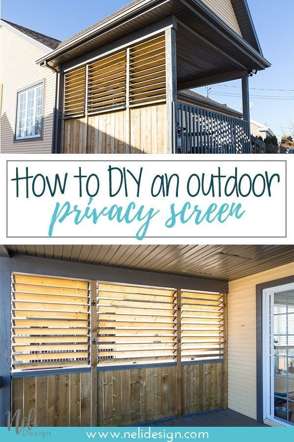 Garden Designs Objects Ideas 2018 : How to DIY an outdoor privacy ...