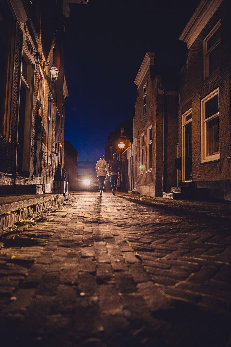 Evening walk for happy couple. #street #headlights #loveshoot #love #loveshoot #wandeling #avond #straat #koplampen Made by Nanda Zee (FOTOZEE)