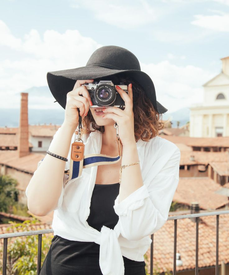 Italy Buildings camera charming City city views europe Ocean ocean view photography quaint rooftops sun hat tourist Town view viewpoint woman sky clothing spring anime