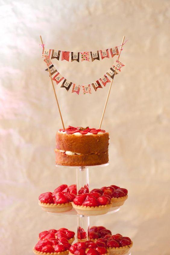 cake topper economici con le bandierine