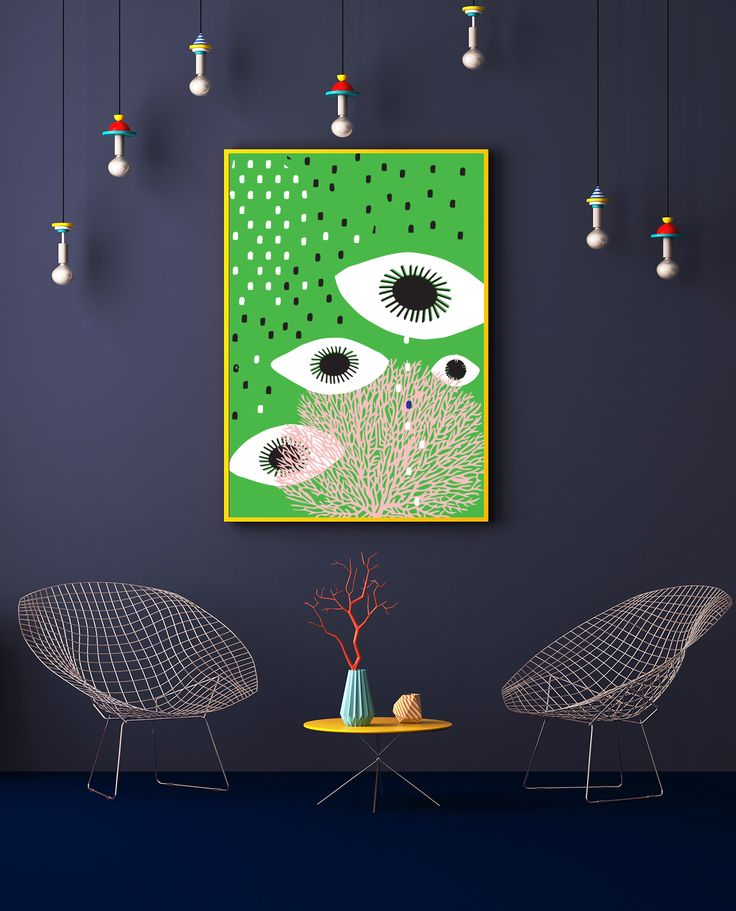 "My ""Labour of Love"" series of prints, can be found on Etsy. #art, #poster, #canvas, #colorful, #design, #homedecor, #Officedecor, #digitalart, #design, #green, #eyes, #tears"