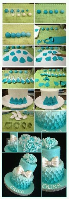 A beautiful Ombre cake