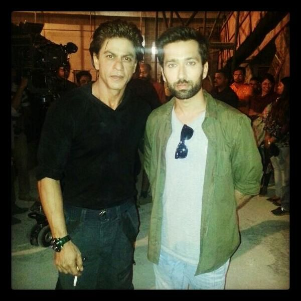 Embedded image permalink-With the lengendary Khan saab! Both tried real hard not to look like fans;) Hence the seriousness. Nakuul Mehta