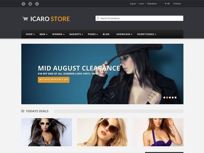 clean, responsive shop theme