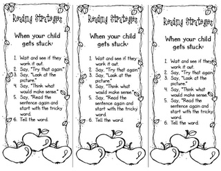 Reading Strategy Bookmarks for Parents when they read with their child at home: Reading Strategies Bookmarks, Classroom, Parents, Open House, 2Nd Grades, Schools Ideas, Schools Stuff, Menu, Books Buddy