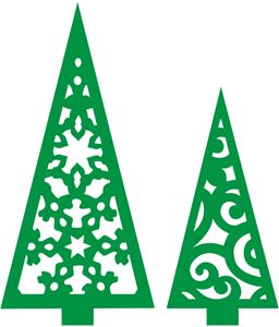 Silhouette Design Store - View Design #14613: 2 christmas trees
