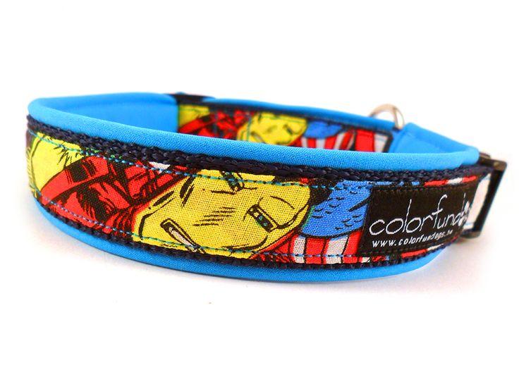 Safety collar with Iron Man desginer textil. #ironman #colorfundogs