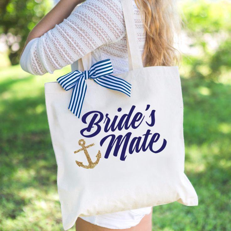 """Nautical Bridesmaid """"Bride's Mate"""" Tote Bag"""